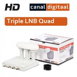 Triple LNB Quad canal digital
