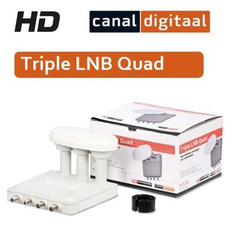 Triple LNB Quad canal digitaal