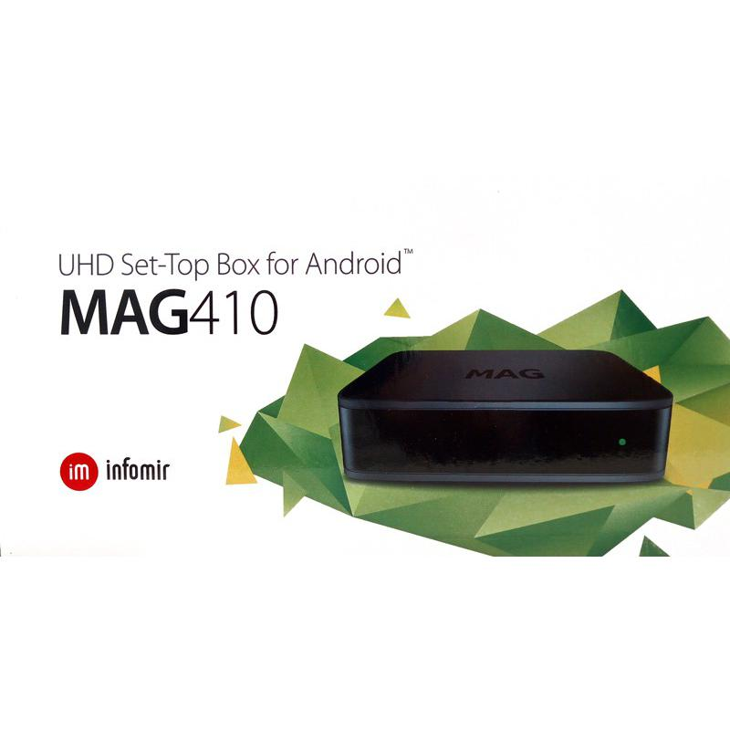 MAG 410 Box IPTV 4K and HEVC support Android 6 0|seeandsound be