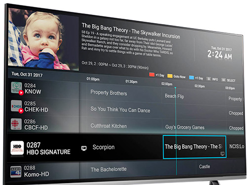 Modern interface IPTV