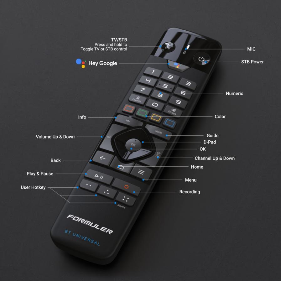 remote control bluetooth formuler